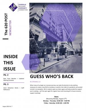 LRCC Newsletter (August 2020)